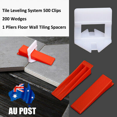 701 Tile Leveling System 500 Clips + 200 Wedges + 1x Plier Floor Spacer Tiling
