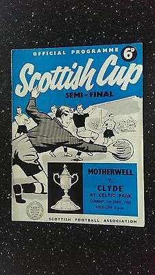 Motherwell V Clyde 1957-58