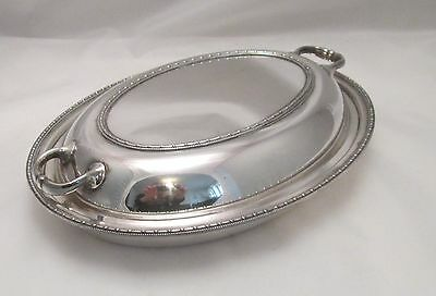A Good Oval Silver Plated Serving Tureen with Lid by Walker & Hall - c1900