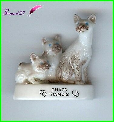 "Feve Les Races de Chat Cat Edition Atlas "" Les Chats Siamois ""  #A17"