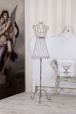 Mannequin Shabby Chic Tailor's Bust Metal Bust White Dress Form