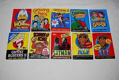 UNOPENED WAX PACK Howard Duck Ghost Busters Batman Grease Gremlins Alf + Lot #1