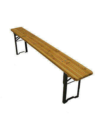 2 Meter Wooden folding benches, beer benches, scout benches, Bench seating