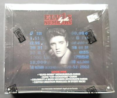 Elvis by the numbers Trading Card Box, Sealed OVP 24-Pack Box Elvis Presley