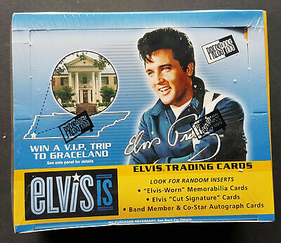 Elvis is Trading Card Box, Sealed OVP 24-Pack Box Elvis Presley