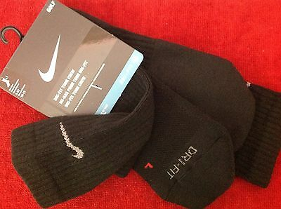 Nike Men's Dri-Fit Tour Crew Black Socks Size L (Shoe 8-12) - 1 PAIR