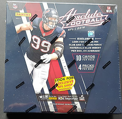 Panini Absolute Football 2016 NFL Box Premium Box 2 Hits per Box!!