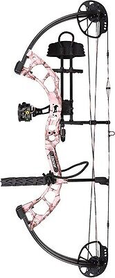 New 2016 Bear Archery Cruzer RTH 5-70# Left Hand AP Pink Camo Bow Package