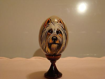 Russian eggs. High quality. Hand-painted Silky Terrier