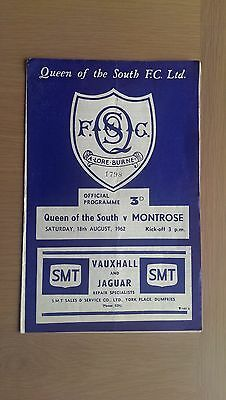 Queen Of The South V Montrose 1962-63