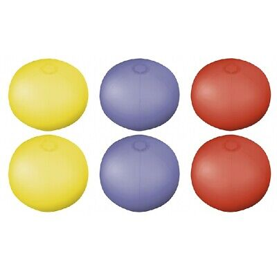 6 x COLOUR INFLATABLE BLOW UP TRANSLUCENT BEACH BALL HOLIDAY SWIMMING POOL PARTY