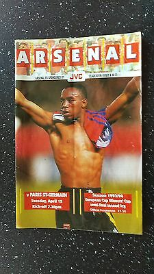 Arsenal V Paris St Germain 1993-94