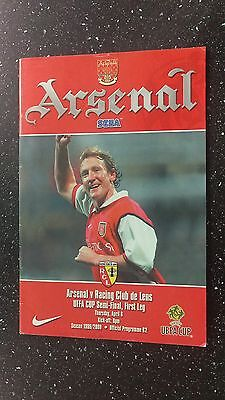 Arsenal V Racing Club De Lens 1999-00.