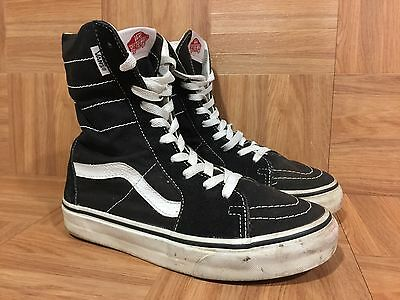 a9ddf928a0408e RARE🔥 VANS SUPER Sk8-Hi XX Tall Boots Black Canvas Sz 5.5 Men s - 7 ...