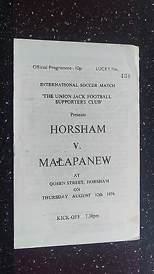 Horsham V Malapanew 1976-77