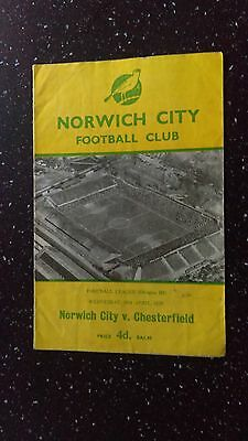 Norwich City V Chesterfield 1958-59