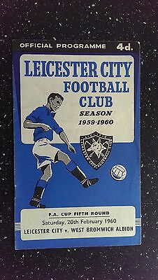 Leicester City V West Bromwich Albion 1959-60