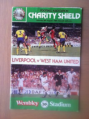 Liverpool V West Ham United 1980-81