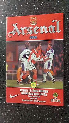 Arsenal V Nantes 1999-00
