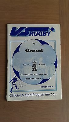 Vs Rugby V Leyton Orient 1985-96