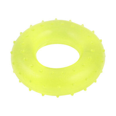 Yellow Salient Point 65x35x15mm Round Rubber Stress Relief Hand Strength Ring