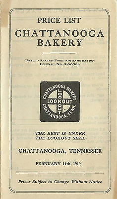 1919 Chattanooga Tennessee MOON PIE Bakery Cookie & Cracker price list, 6 pgs