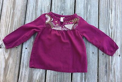 Old Navy Embroidered Shirt- 18-24 Months- Baby Girl/ Infant/Toddler- LS- Top