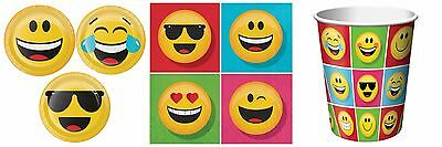 Emoji Party Supplies Party Pack for 16 - Plates, Napkins & Cups