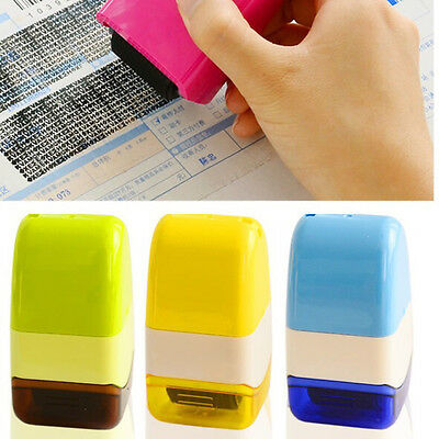 1PC Guard Your ID Rollers Stamp SelfInking Stamp Messy Code Security Office