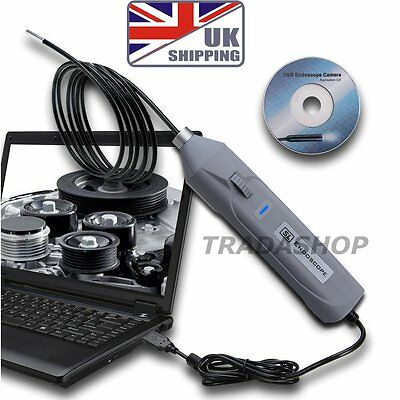 Mini USB 5.5mm Inspection Camera Borescope Slim Snake Endoscope 6 LED 3M Tube