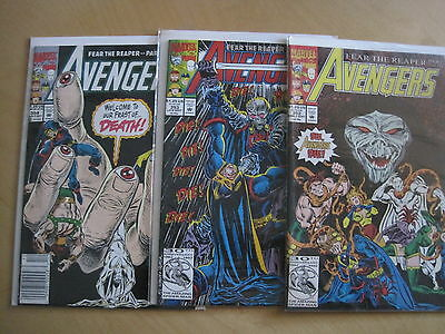 "Avengers 352,353,354, ""fear The Reaper"" : Complete 3 Issue Story. Marvel 1992"