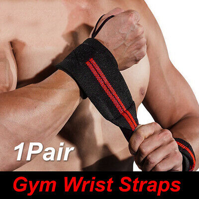 Weight Lifting Gym Muscle Training Wrist Support Straps Wraps Bodybuilding