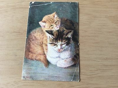 Nice Old POSTCARD, Cats 1903