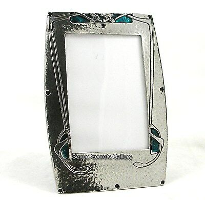 "Handcrafted Pewter Art Nouveau Knox Design Photo Frame 4.1/2 x 3"" ! F1 