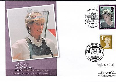 Luxury Princess Diana Dual Stamped First Day Cover