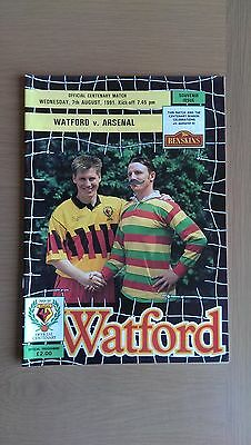 Watford V Arsenal 1991-92