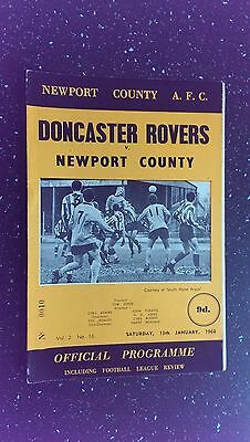Newport County V Doncaster Rovers 1967-68