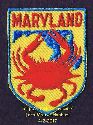 LMH PATCH Badge  MARYLAND CRAB  Seafood BLUE Red Logo State Chesapeake Atlantic