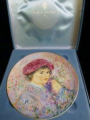 "Edna Hibel ""Le Marquis Maurice Pierre"" Collectors Plate * 2nd Edition*"