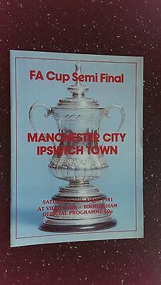 Manchester City V Ipswich Town 1980-81