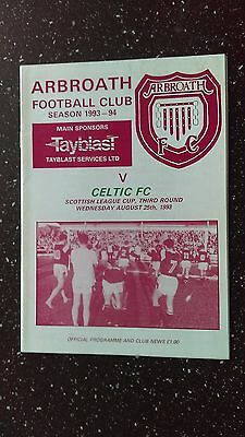 Arbroath V Celtic 1993-94