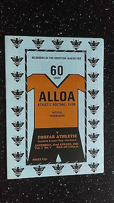 Alloa Athletic V Forfar Athletic 1981-82