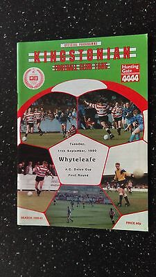 Kingstonian V Whyteleafe 1990-91