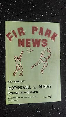 Motherwell V Dundee 1975-76