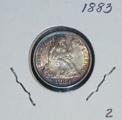 1883 Seated Liberty Dime Uncirculated  Rare!!!  2