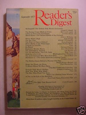 Reader's Digest September 1977 Star Wars Woody Hayes