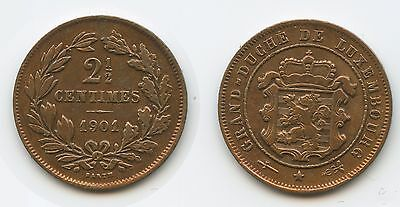 G9003 - Luxemburg 2½ Centimes 1901 KM#21 Adolphe 1890-1905 Luxembourg