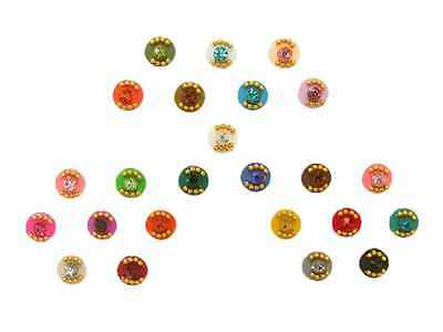 Small Rainbow Bindi Dots Crystal Indian Body Stickers Large 24 Pack