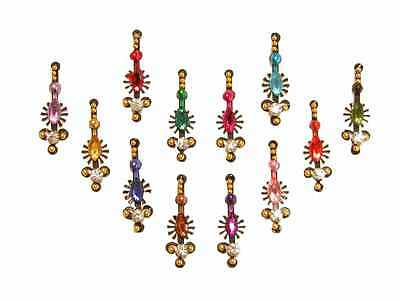Rainbow Crystal Belly Dance Body Stickers Large Bindi Pack