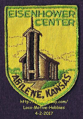 LMH PATCH Badge  EISENHOWER CENTER  Dwight D Presidential Library ABILENE Museum